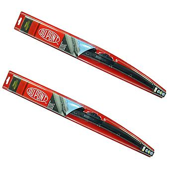 "Genuine DUPONT Hybrid Wiper Blades Pair 400mm/16'' +480mm/19"" For Daihatsu Cuore"