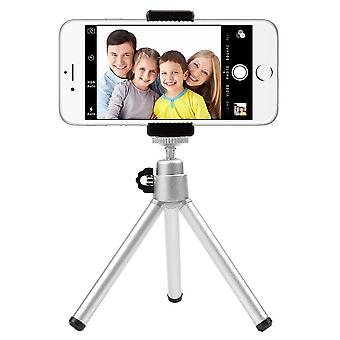 Tripod - three-legged stand for mobile and camera - silver