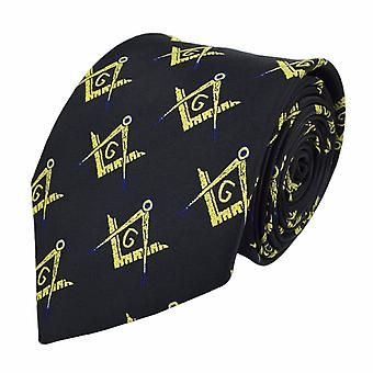 Masonic regalia craft masons silk tie with square compass & g lodge gift-nanba