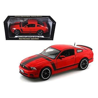 2013 Ford Mustang Boss 302 Red 1/18 Diecast Car Model By Shelby Collectibles