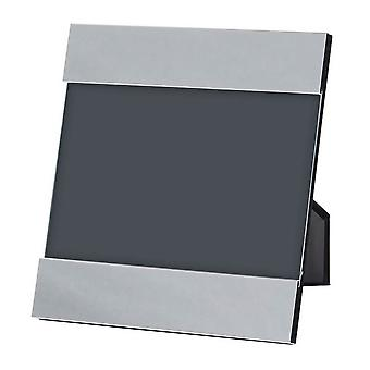 Orton West Double Edge Square Photo Frame 4x7 - Silver
