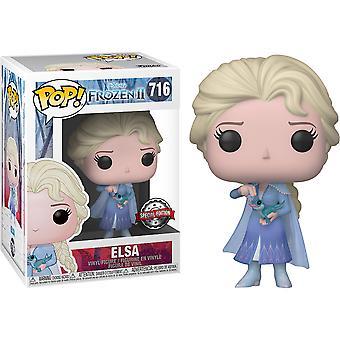 Frozen II Elsa met Salamander US Exclusive Pop! Vinyl