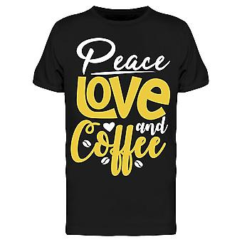 Peace Love And Coffee Tee Men's -Bild von Shutterstock