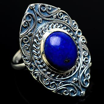 Lapis Lazuli Ring Size 6.5 (925 Sterling Silver)  - Handmade Boho Vintage Jewelry RING8031