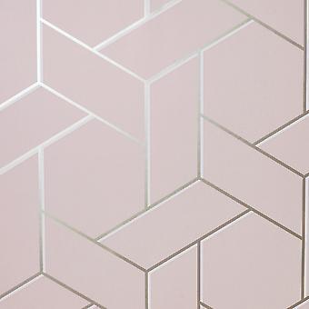 Parkety Geo Tapety Pink / Rose Arthouse 695500