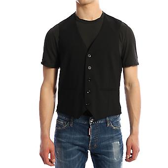 Tonello 01lg1001063u990 Men's Black Wool Vest