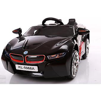 Unlicenced black bmw i8 style 2 x 6v kids electric ride on car with remote