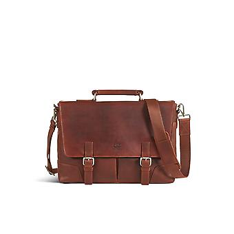 Leather briefcase bag james brown