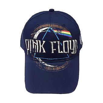 Pink Floyd Dark Side of the Moon Distressed Emblem Navy Baseball Cap