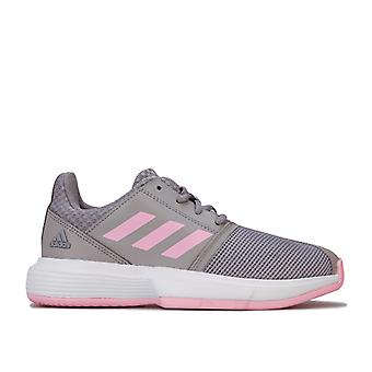 Girl's adidas Kinder CourtJam Trainer in grau