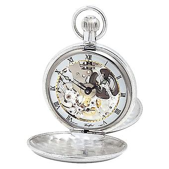 Woodford Silver Twin Lid Pocketwatch With Albert Chain 1066 Watch