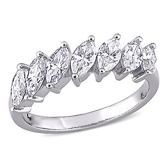 3.50 Carat (ctw) Moissanite Anniversary Wedding Band Ring in 10K White Gold