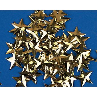 50 Metallic Gold 18mm Sequin Stars for Crafts