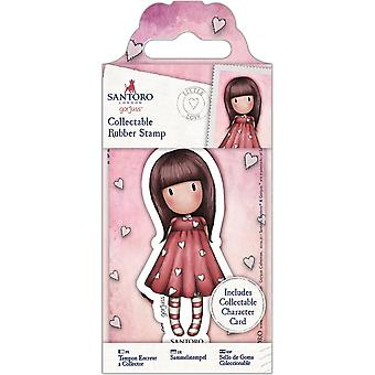 Gorjuss Collectable Mini Rubber Stamp No. 51 Little Love