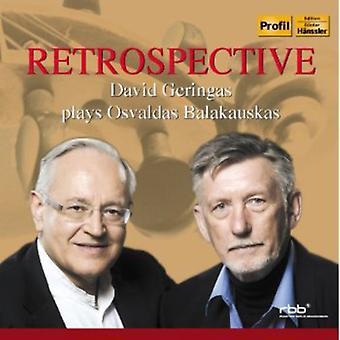 O. Balakauskas - Retrospective-David Geringas Plays Oavaldas Bala [CD] USA import