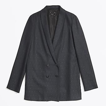 Alysi  - Pin Dot Blazer - Blue/Black