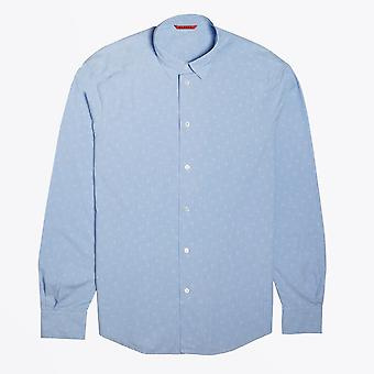 Barena  - Square Stitch Shirt - Blue