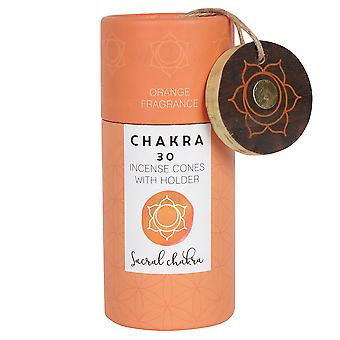Something Different Sacral Chakra Incense Cones (Pack Of 30)