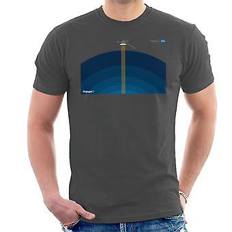 NASA Voyager2 Übertragung Herren T-Shirt