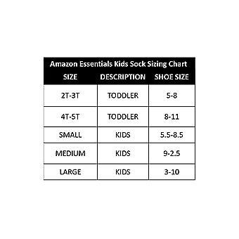 Essentials Kids' 10-Pack Cotton Crew Sock, Black, 8 to 11