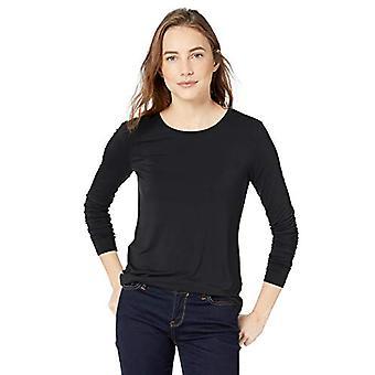 Marke - Daily Ritual Women's Jersey Long-Sleeve Rundhalsshirt, schwarz...