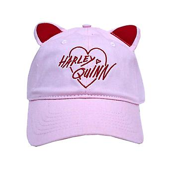Birds Of Prey Baseball Cap Harley Quinn Cat Ears Logo Official Pink Snapback