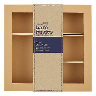 Papermania Bare Basics Shadow Box 8x8 Inch