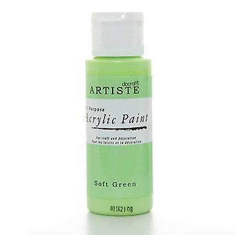 Peinture acrylique Docrafts (2oz) - Vert doux (DOO 763238)