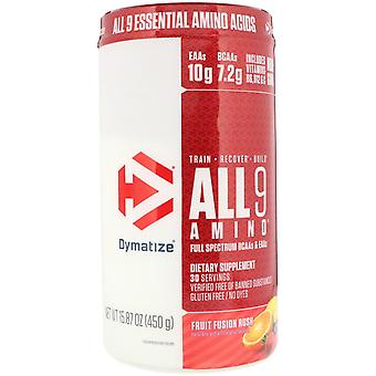 Dymatize Nutrition, ALL9AMINO, Fruit Fusion Rush, 15,87 (450 g)