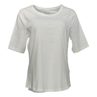الدنيم وشركاه المرأة & ق أهم أساسيات أي ملابس جيرسي الأبيض A378932
