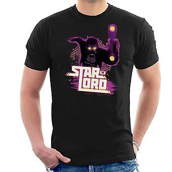 Marvel Wächter der Galaxy Star Lord Retro Männer's T-Shirt