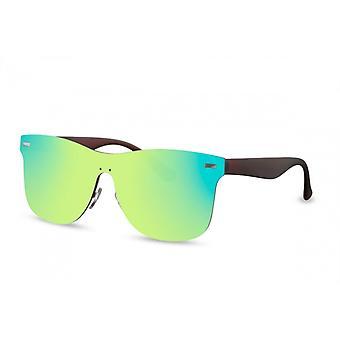 Okulary przeciwsłoneczne Unisex Wanderer Cat.3 Czarny/Zielony (CWI2213)