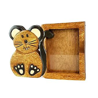 Wooden Photo Frame 6X4 Mouse