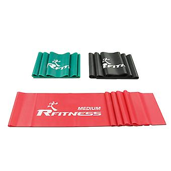 Furinno RFitness RF1502-3 Professional 60-Inch FLAT Stretch Latex Exercise Band 3-PC Set (MEDIUM, HEAVY, X-HEAVY)