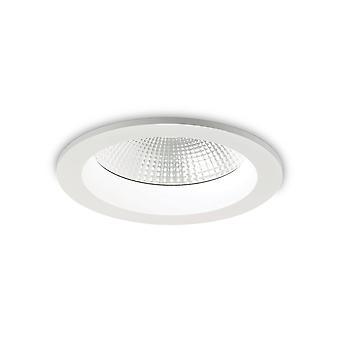 LED 1 Luce Recessed Spotlight Bianco IP44