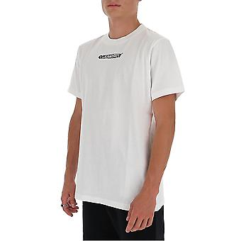 Off-white Omaa027e20jer0040110 Mænd's White Cotton T-shirt
