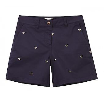 Joules Cruise Embroidery Mid Length Short (navy Bee)