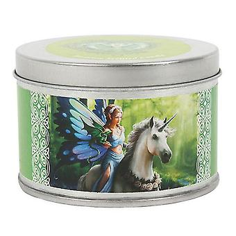 Anne Stokes Realm Of Enchantment Unicorn Candle