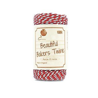 20m Red Natural Bakers Twine for Crafts & Gift Wrapping