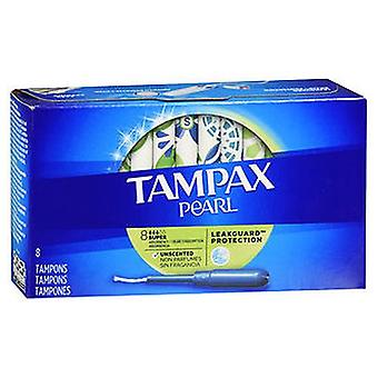 Tampax Pearl Tampons Super Absorbency Unscented, 8 Each