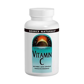 Source Naturals Cristaux d'acide ascorbique, 8 Oz