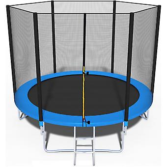 Trampoline - blue- 244 cm with safety net - up to 110 kg
