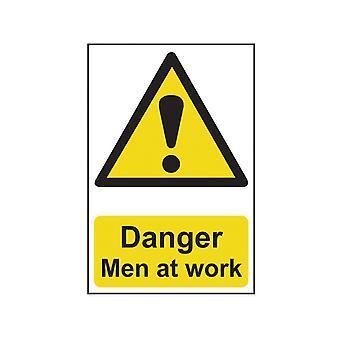 Scan Danger Men At Work - PVC 400 x 600mm SCA4104