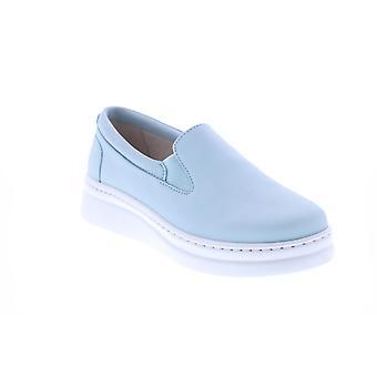 Campista vice-campeã Mulheres Sapatos de Couro Azul e Sapatos de Barco