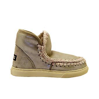 Mou Eskimosneakersmgeg Women's Beige Leather Ankle Boots