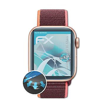 atFoliX 3x Schutzfolie kompatibel mit Apple Watch SE 44mm Folie klar&flexibel