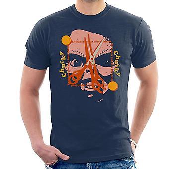 Chucky Bästa vän Scissors Face Män's T-shirt
