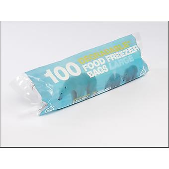 Essential Tuffy Degradable Freezer Bags Large x 100 10852