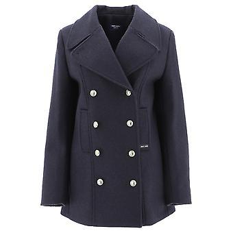 Saint James 0129cc Women's Blue Wool Coat