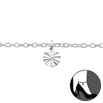 Kreis - 925 Sterling Silber Fußkettchen - W39256x
